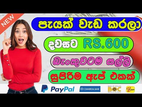 paypal earn money app 2021 sinhala | earn money online sinhala 2021