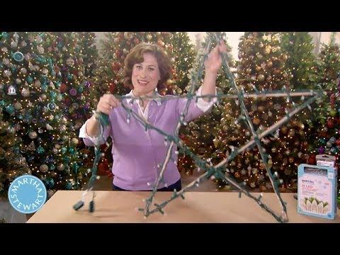 How to Create and Display Illuminated Stars - Martha Stewart