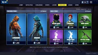 LONGSHOT and INSIGHT Skins In the Item Shop -Fortnite Battle Royale