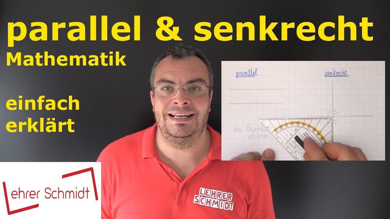 parallel und senkrecht | Mathematik - einfach erklärt - YouTube