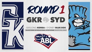 Geelong-Korea @ Sydney Blue Sox, R1/G3