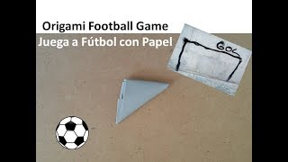 Origami Flick Paper Football Game - Juega a Fútbol con Papel Manualidades