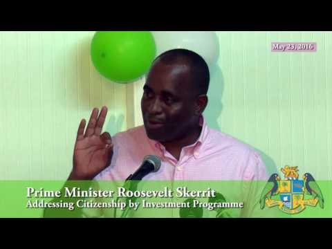 Dominica's Prime Minister Addresses Citizenship by Investment Programme