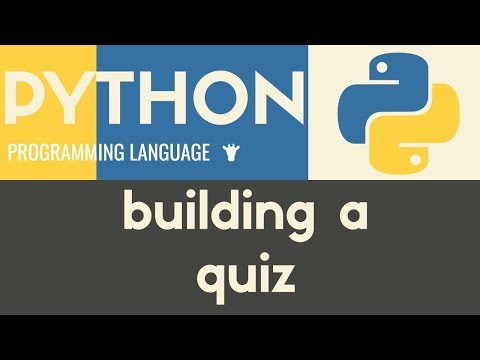 Building a Multiple Choice Quiz | Python | Tutorial 32