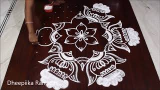 Sankranthi special rangoli design with 11x6 dots * Bhogi special muggulu 2019 * pongal pots