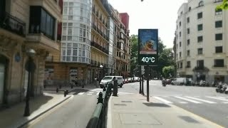 Bilbao alcanza los 40 grados pasadas las 13.30 horas
