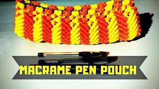 Macrame Art- Macrame Pencil/Pen Pouch - Child Special Video
