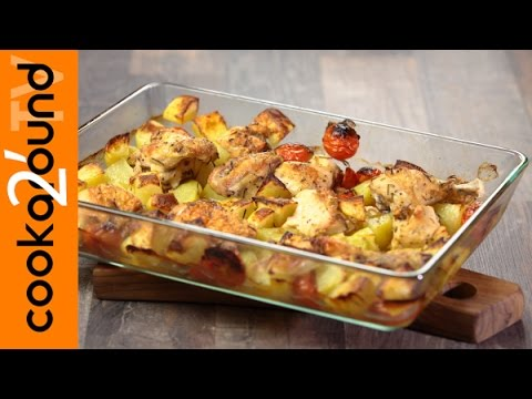 Pollo al forno con patate ricette secondi piatti youtube for Ricette con patate