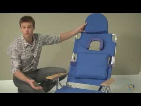 Deluxe Padded Ostrich 3 N 1 Beach Chair Product Review Video