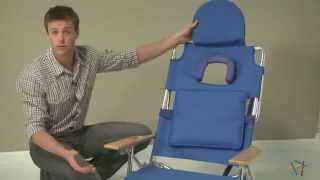 Deluxe Padded Ostrich 3-n-1 Beach Chair - Product Review Video