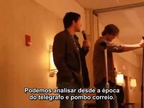 Supernatural Misha Collins and Jared Padalecki at Chicago Con