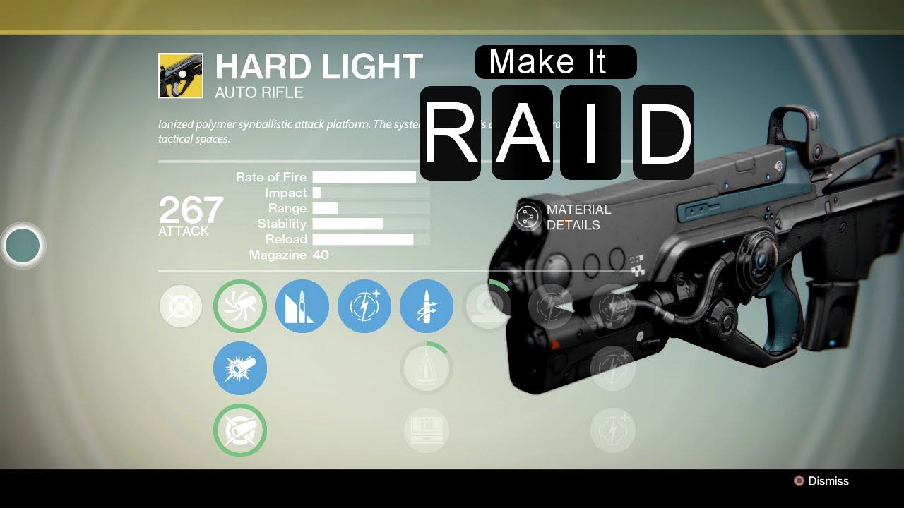 Destiny Gun Guide 2 Hardlight