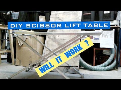 DIY lightweight scissor lift - will it work?
