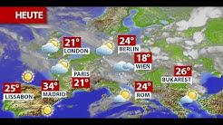 Aktuelle Wetterprognose für Sonntag (21.06.2020)