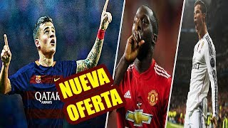 "OFERTA Final del Barça por COUTINHO   LUKAKU a CRISTIANO: ""Messi es Mejor""   GOLAZO de CRISTIANO"