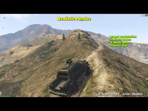 GTA V: Insurgent (GURKHA RPV) with realistic physics (Realistic Driving mod)