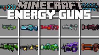 Minecraft ENERGY GUNS MOD / SHOOT DEATH RAYS AND SHRINKING GUNS!! Minecraft