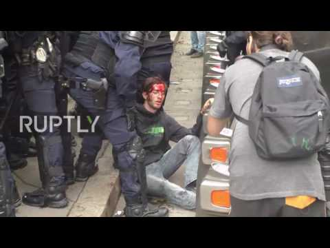 France: Police and protesters clash in Paris during labour reform protest