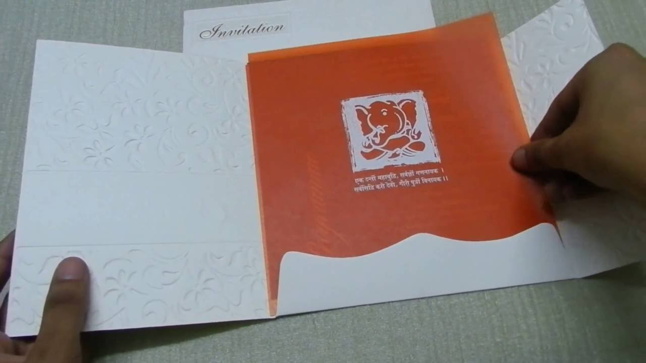 Embossed Floral Wedding Invitation - WC 11 - YouTube
