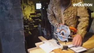 Evolution Rage1-B Circular Saw : Cutting box section & reclaimed wood