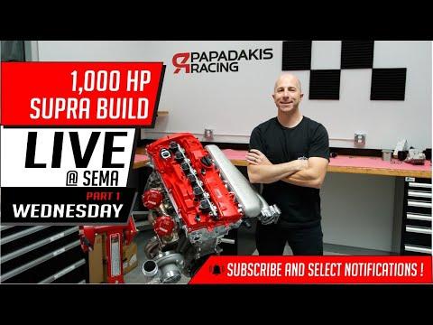 1,000 HP Supra build   Live @ Sema   Wednesday