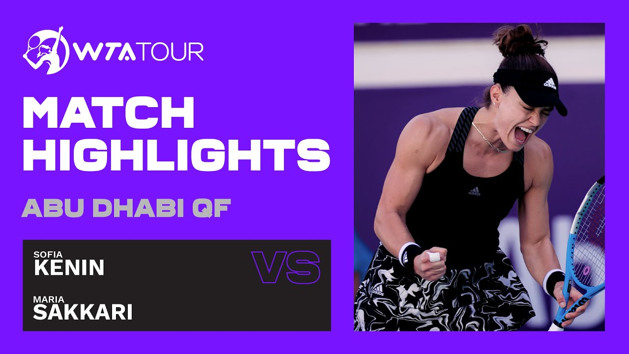 Sofia Kenin vs. Maria Sakkari | 2021 Abu Dhabi Quarterfinal | WTA Highlights