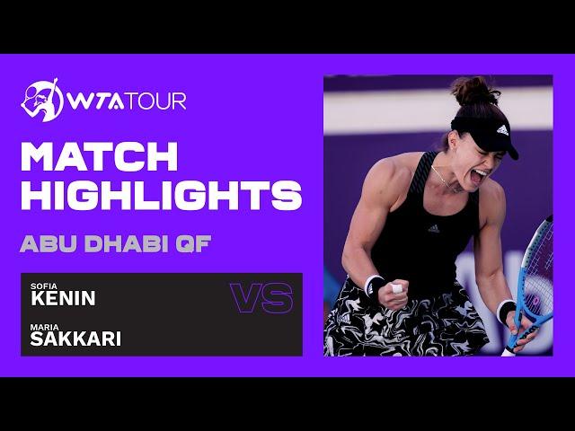 Sofia Kenin vs. Maria Sakkari   2021 Abu Dhabi Quarterfinal   WTA Highlights