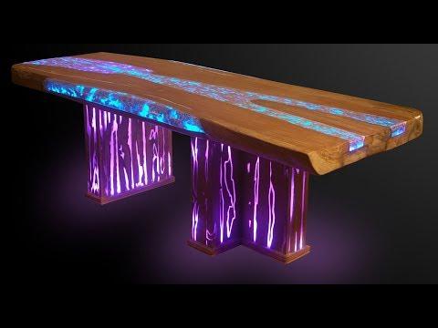 Мебель из эпоксидной смолы The furniture is made of epoxy resin