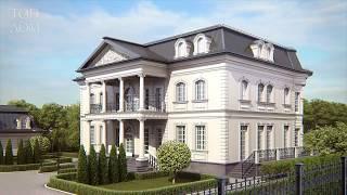 Частный дом с белым фасадом