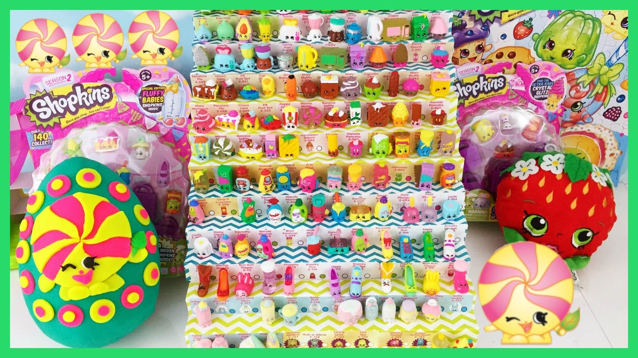Shopkins Season 2 Minnie Mintie Play Doh Surprise Egg Limited Edition Hunt 12 And 5 Packs
