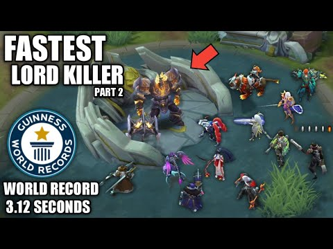 FASTEST MARKSMAN TO SOLO KILL LORD PART 2 ( NEW RECORD 3.12 SECONDS 🤔 ) - MOBILE LEGENDS BANG BANG
