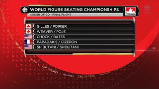 2016 Worlds - Ice Dance FD Full Broadcast CBC