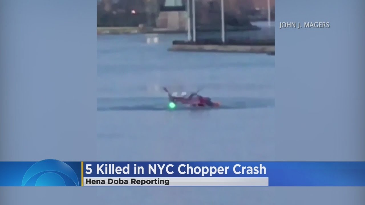 Helicopter Crashes In NYC's East River, 5 Dead