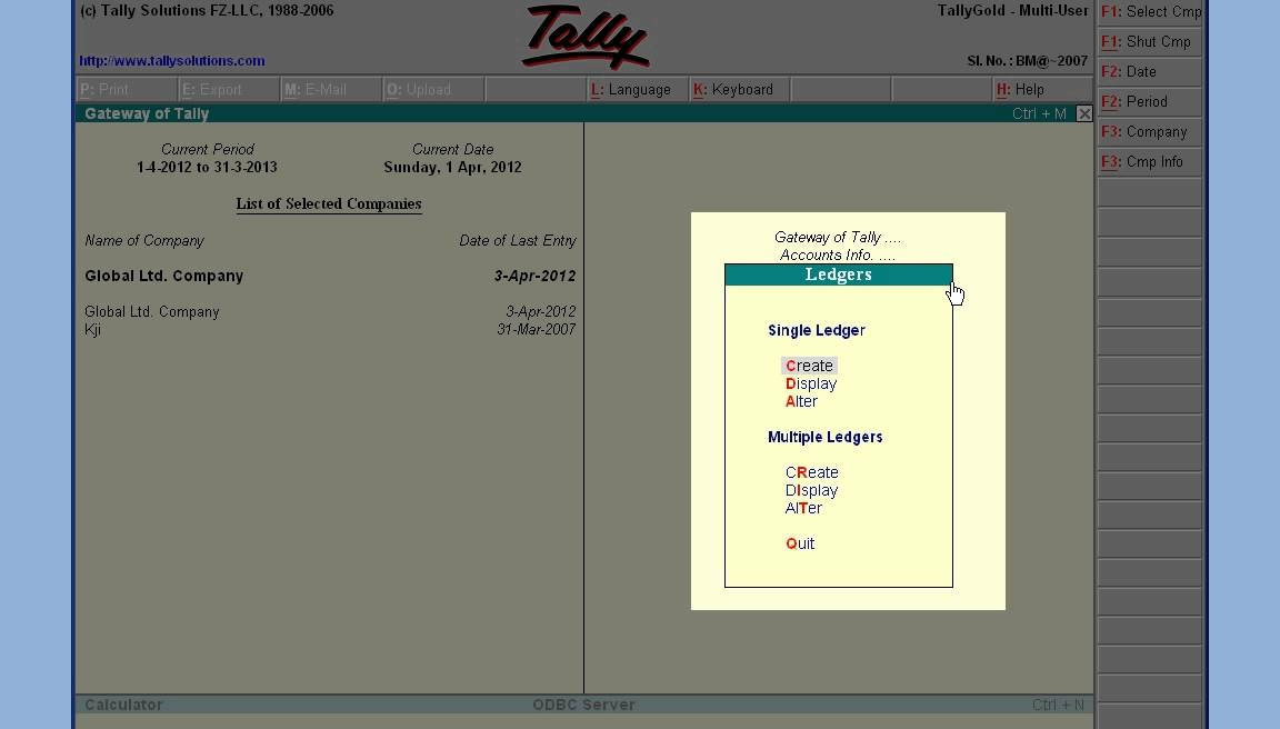 Tally 13 Create Ledger Furniture and Fixture under Fixed Assets ...