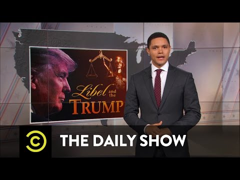 The Daily Show - Donald Trump: Libel Bully