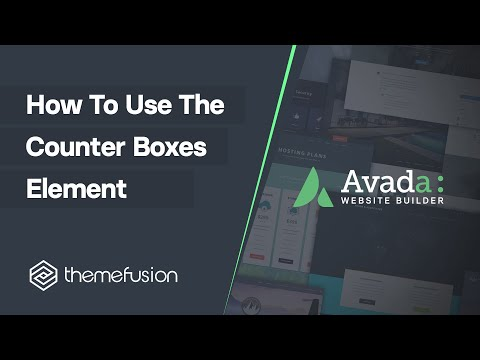 How To Use The Counter Boxes Element Video