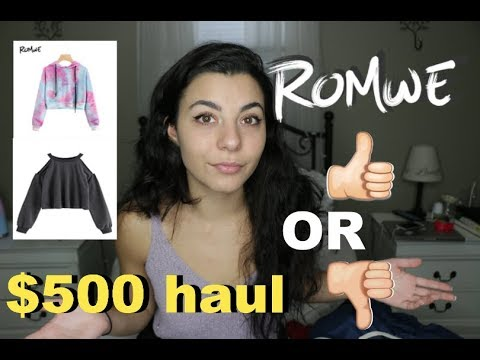 HUGE $500 ROMWE FALL TRY-ON HAUL + Review | is it a SCAM?