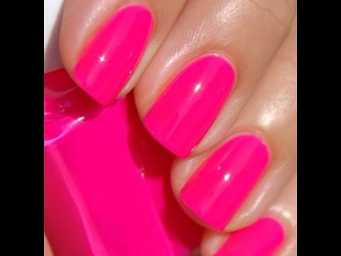 HOT PINK Gel nails lets do this! Take 2.