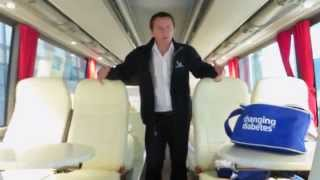 Inside the Team Novo Nordisk Bus