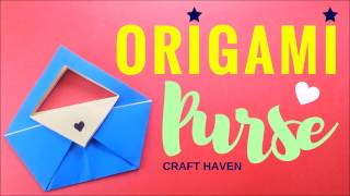 How to Fold Easy Origami Purse ♥︎ Paper Bag/Clutch Tutorial ♥︎ DIY Paper Folding for Beginners ♥︎