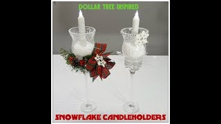 Tricia's Creations: Snowflake Candleholder Dollar Tree