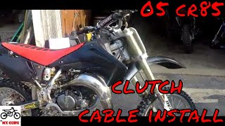 Honda CR 85 Clutch Cable Install ~ Basic Dirtbike Motocross How-To ~ 2005 Model ~