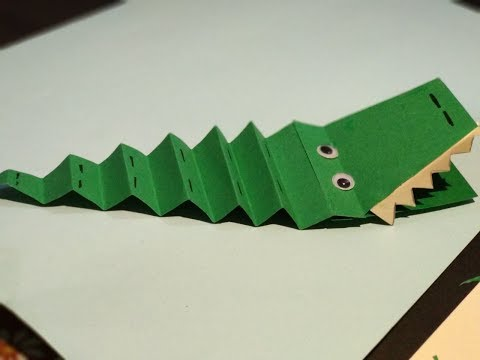 DIY- Paper Crocodile    Innovative Artsncrafts