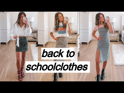 back to school try-on clothing haul (senior year)