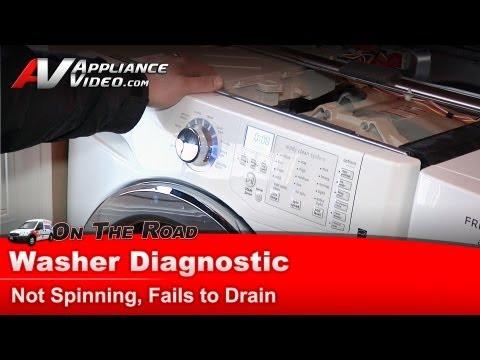why won t my washing machine spin
