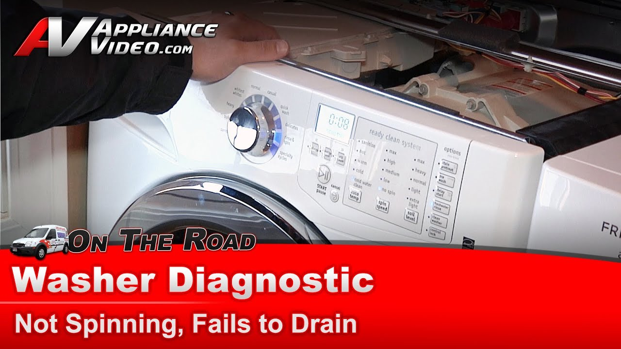 Washer Not Draining Or Spinning Washer Diagnostic Not Spinning Fails To Drain Frigidaire