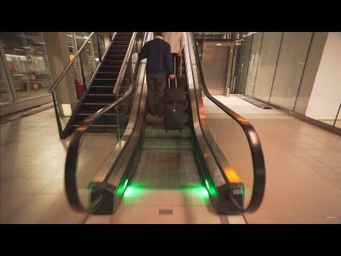 Netherlands, Schiphol Airport, 1X escalator,  4X moving sidewalk