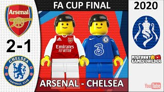 FA Cup Final 2020 Arsenal vs Chelsea 2 1 in Lego All Goals Highlights Lego Football