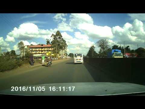 Driving from Limuru to Nairobi
