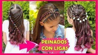 Peinado Para Ninas Con Ligas Para La Escuela Peinados Faciles